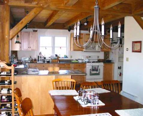 Interior Design of a Post and Beam Kitchen