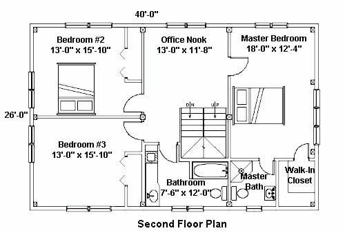 Floor Plan for a Home with Timber Beams