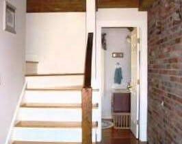 Stairway, Timber Beams and Used Brick