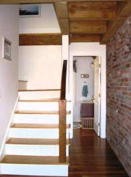 Stairway, Timber Beams and Used Brick