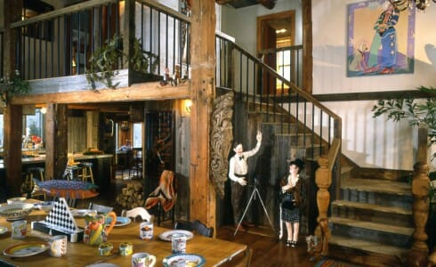 Antique Beams in a Barn Home