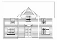 Front Elevation of a Timber Frame Home
