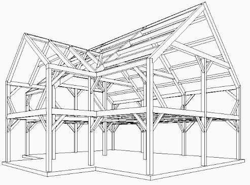 Residential Floor Plan Post And Beam Home