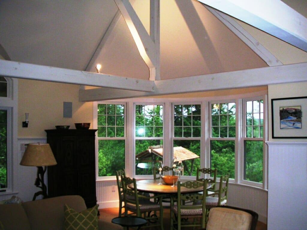 Custom Pool House Pickled White Timber Frame
