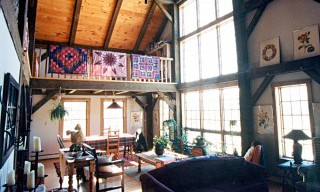 Barn Home Interior with Cathedral Ceiling and Loft