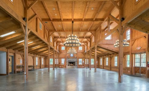 Interior of Deer Lake Post and Beam Dining Hall