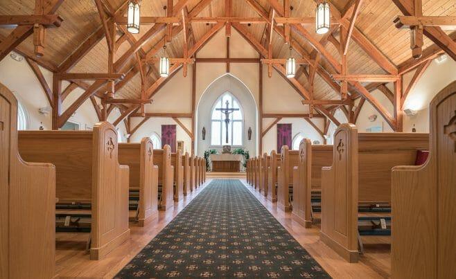 Interior of Saint Patrick's Church in Redding, CT