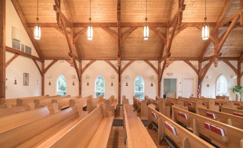 Timber Frame Trusses in Saint Patrick's Church