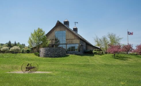 Exterior of the Barn Style Souther Vermont Welcome Center