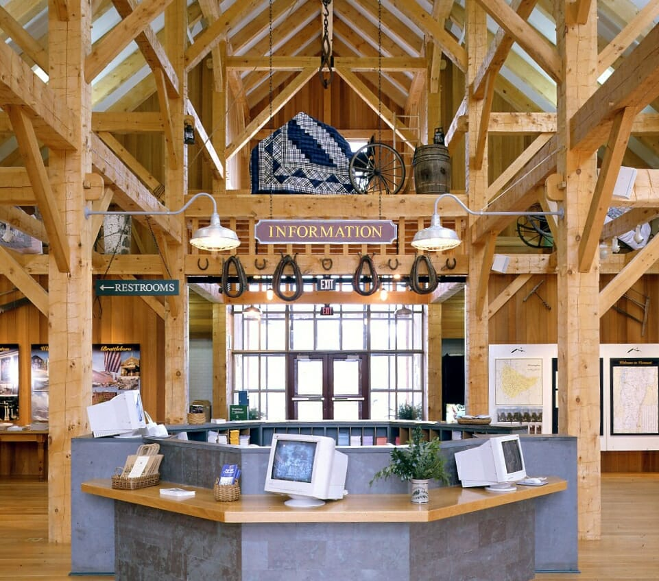 Timber Framed Building : Timber posts by vermont works