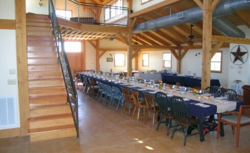 Post & Beam Barn Interior