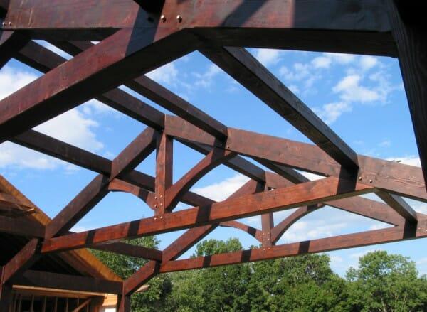 Vermont Timber Works king post hostetter habib residence