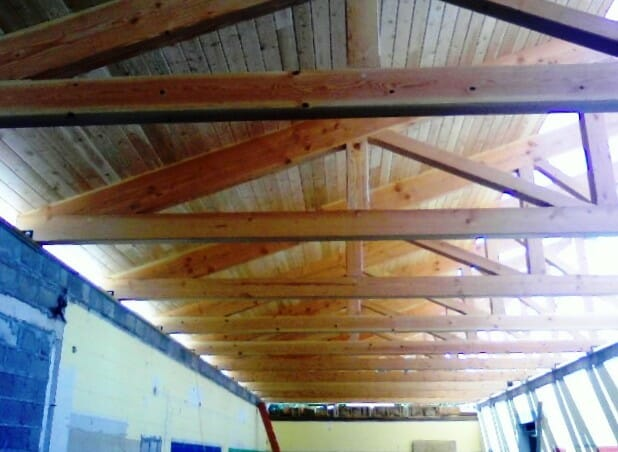 Heavy Timber Truss Interior