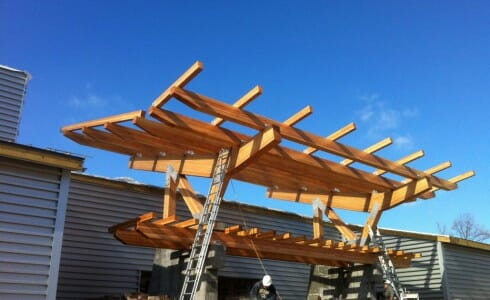 Completed Timber Frame Canopy