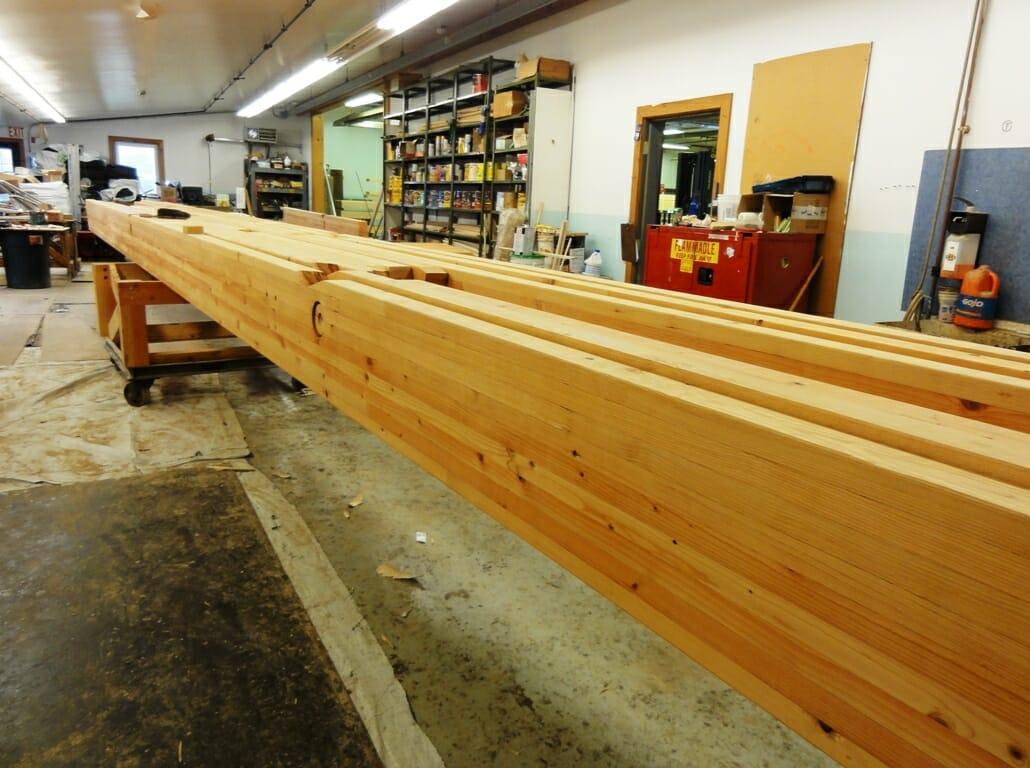 Wood Beam Construction ~ Nemacolin ski lodge modern timber frame