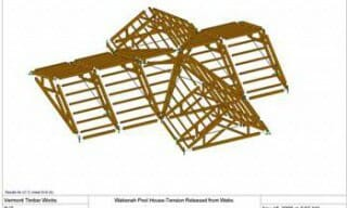 3D Drawing of Timber Frame Pool House