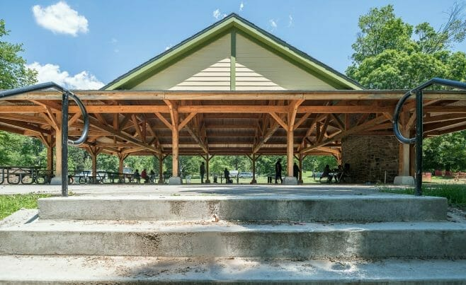 Park Picnic Pavilion at Cadwalader Park in NJ