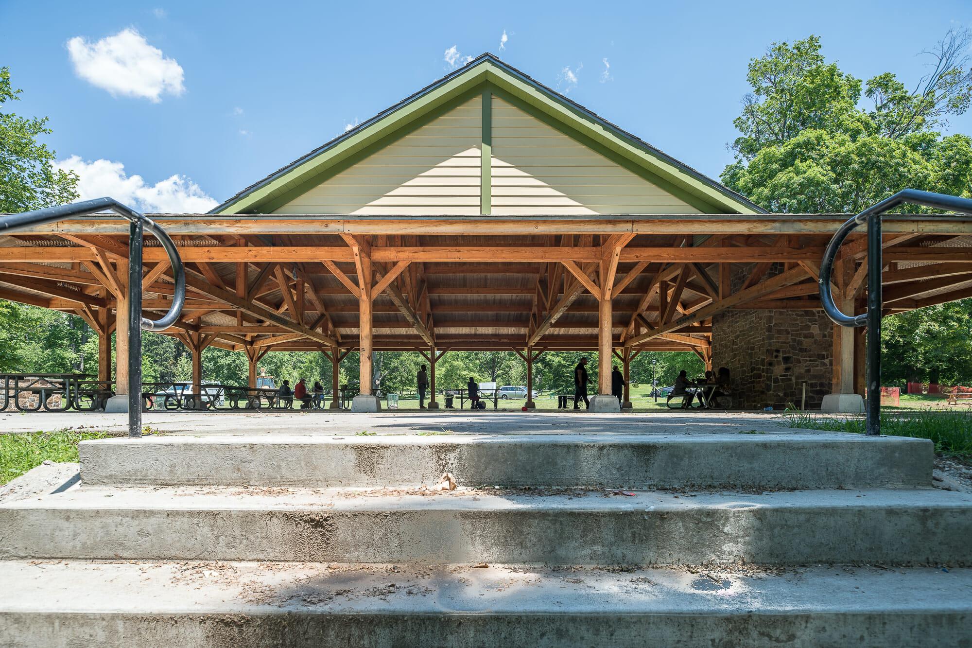 Cadwalader Park Douglas Fir Pavilion