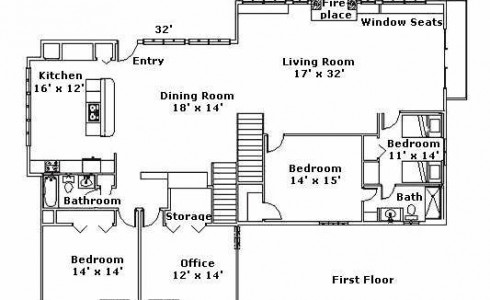 Second Floor Plan Post & Beam Home