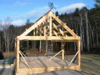Completed Timber Frame Exterior