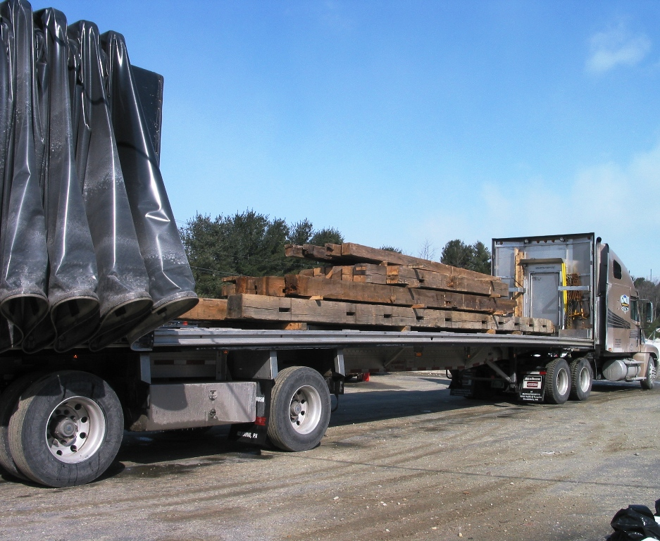 Truck Loaded with Reclaimed Beams