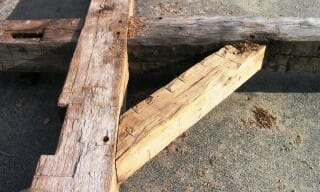 Hand Hewn Oak Timber