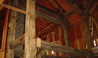 Reclaimed Beams Installed in Residential Timber Frame