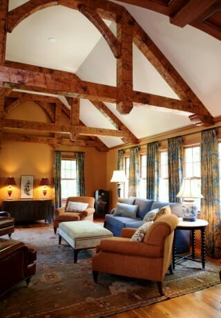 Hand Hewn Timber Frame Textured Wood Beams