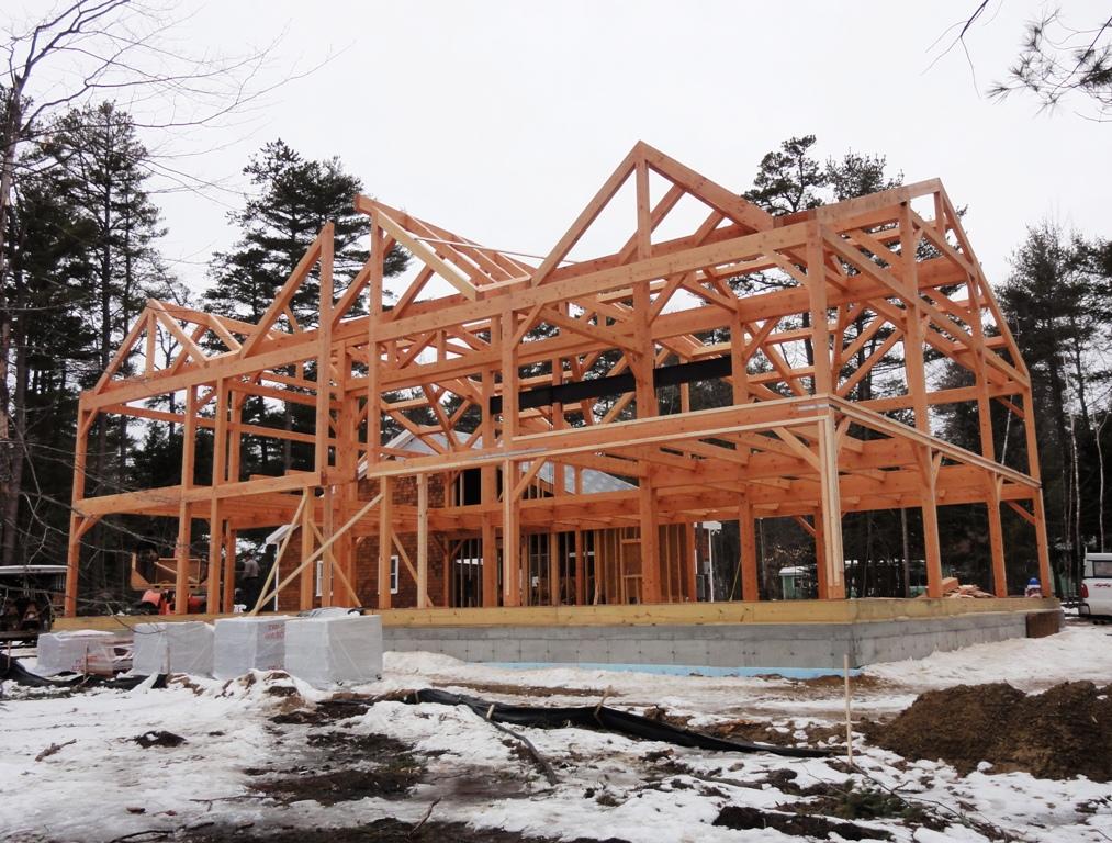 Dugas Residence Douglas Fir Frame Complicated Roof System