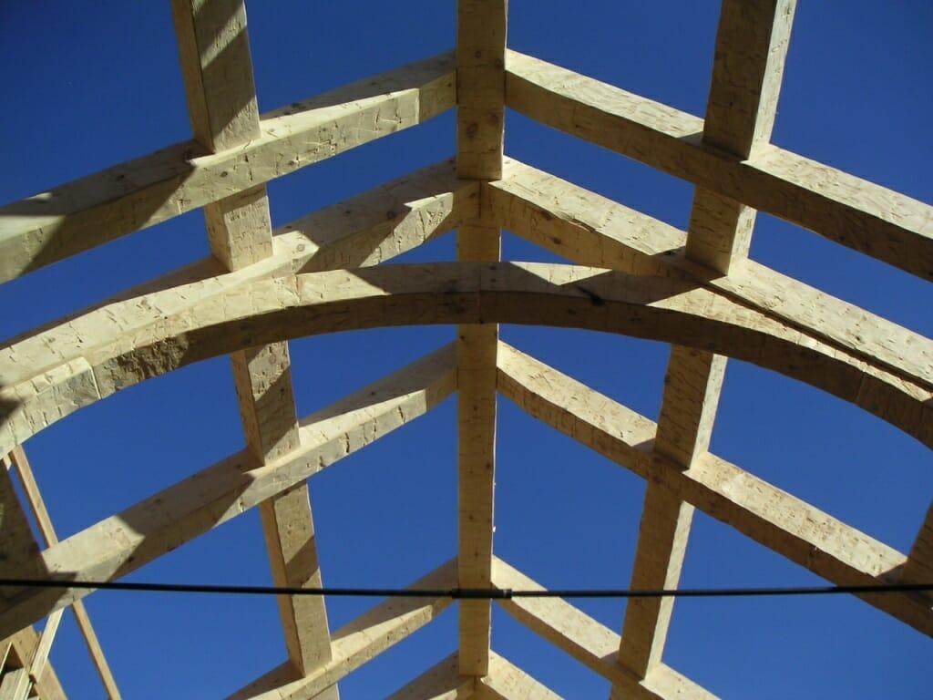 Rough Hewn Timber Frame Home Hammer Beam Design