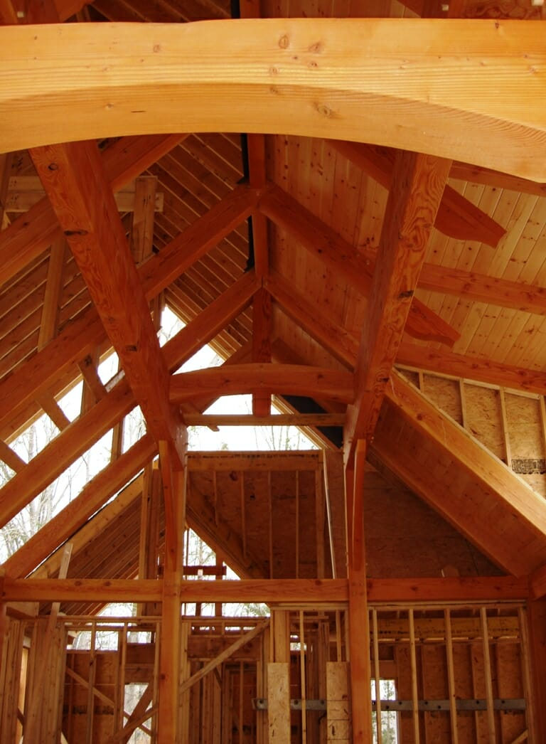 Neely Residence Graceful Arch Accent Beams Douglas Fir