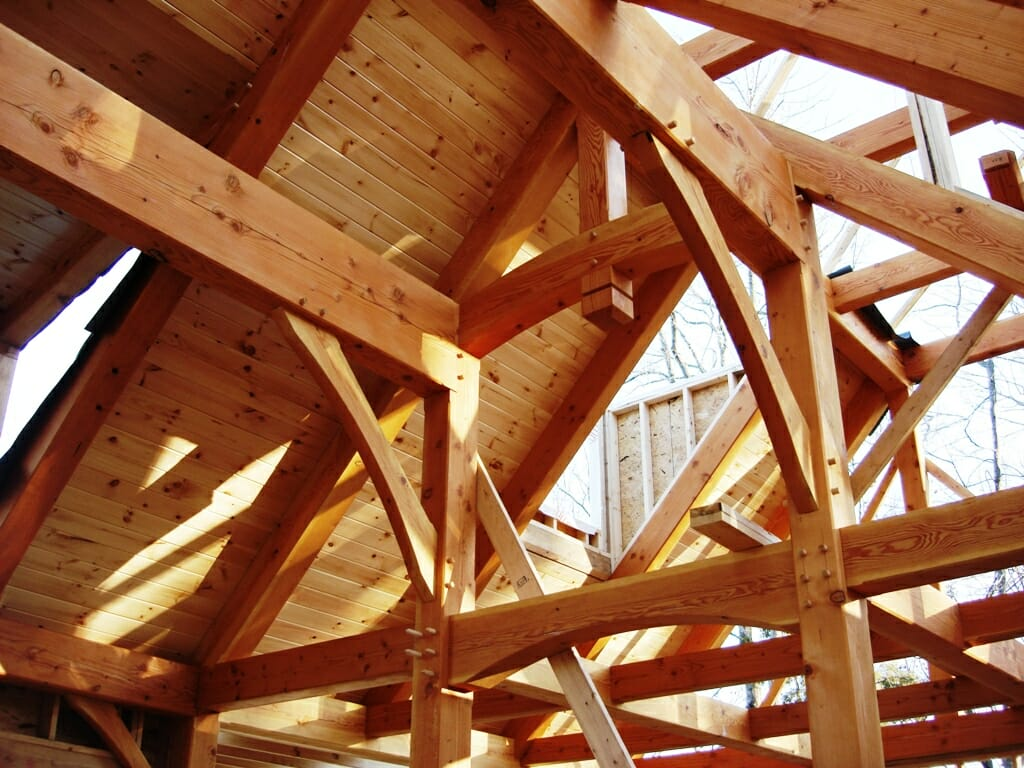 Timber Posts and Beams with Brackets