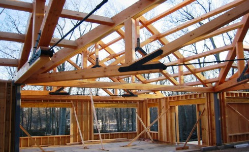 Center Timber Truss & Steel Rod