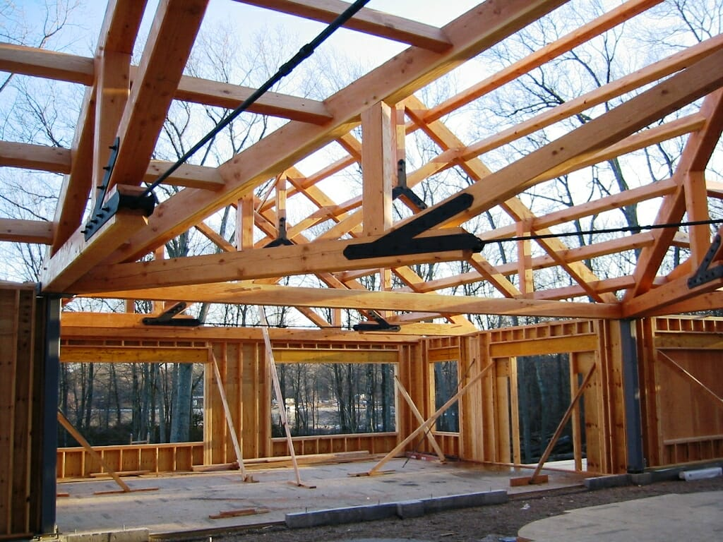Scissor truss design traditional and steel joinery for Truss designs for homes
