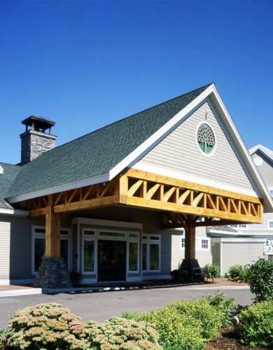 Timber Frame Hotel Trusses Porte Cochere Hawthorn Suites