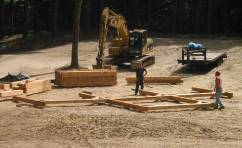 Construction Crew Building Bents
