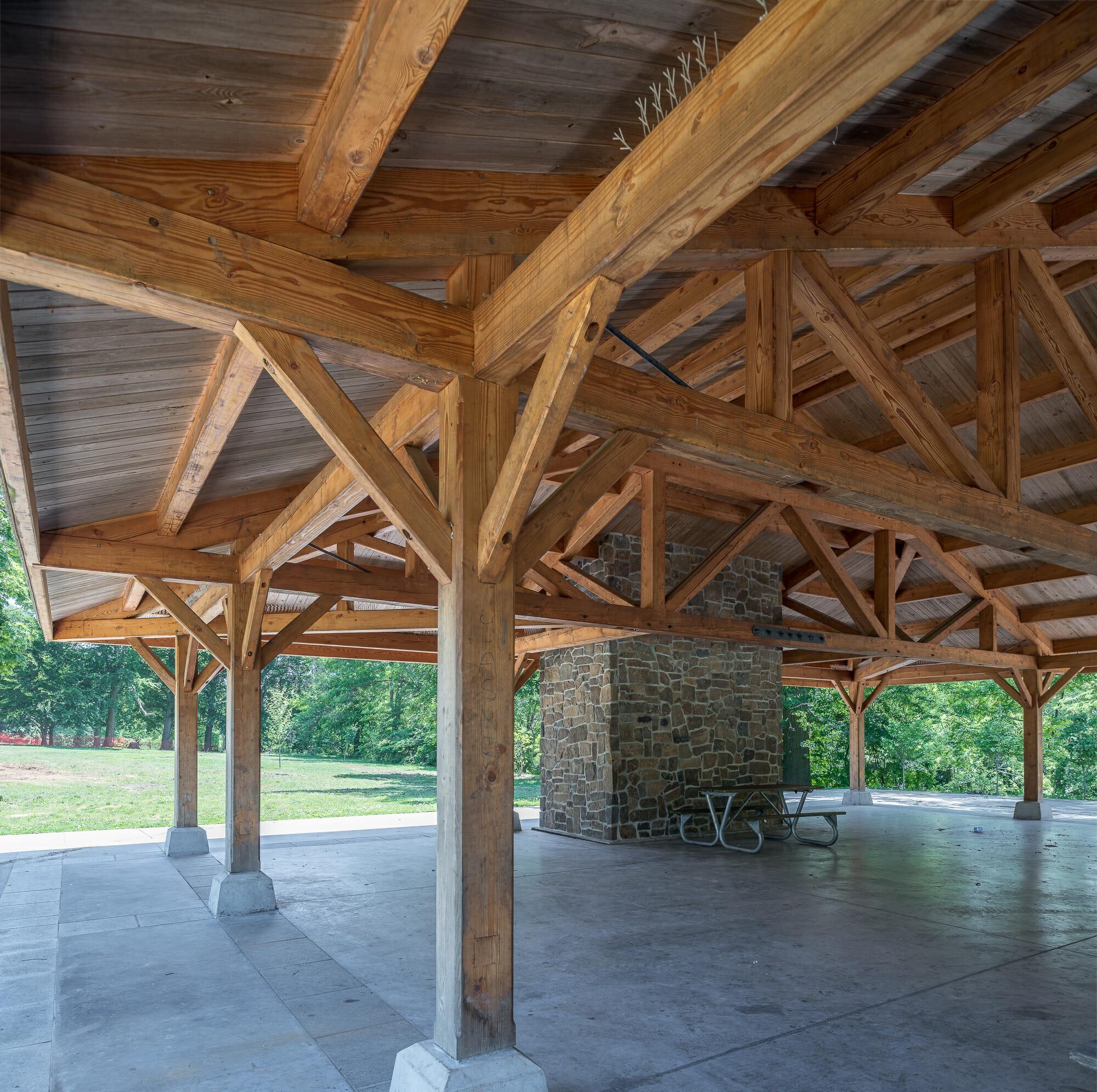 Cadwalader Park: Douglas Fir Pavilion