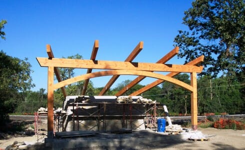 Outdoor Theater At Citizen's Park in Construction