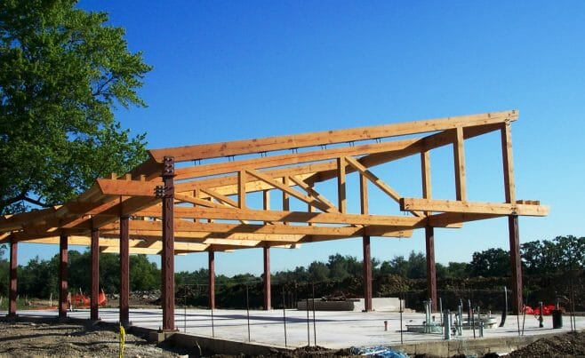 Outdoor Timber Frame Theater