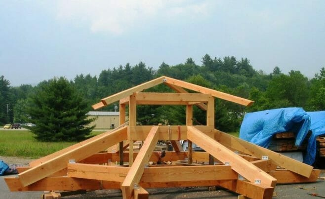 Timber Frame Gazebo in Construction at Citizen's Park