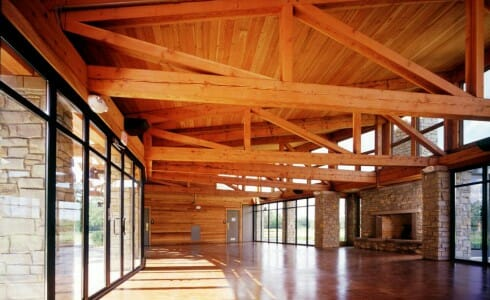 Beautiful Timber Frame Interior Beams for Citizen's Park