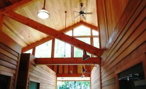 Park Interior Timber Beams
