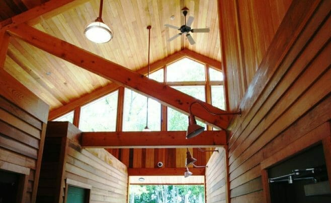 Park Interior Timber Beams