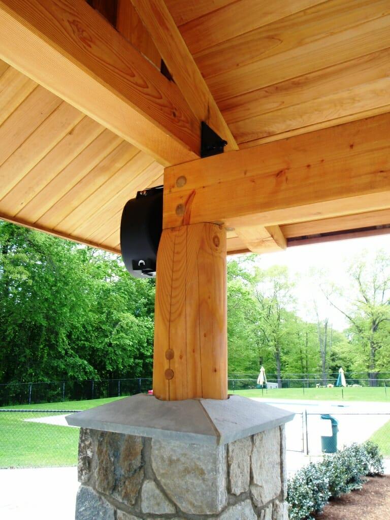 Timber frame pool house custom work