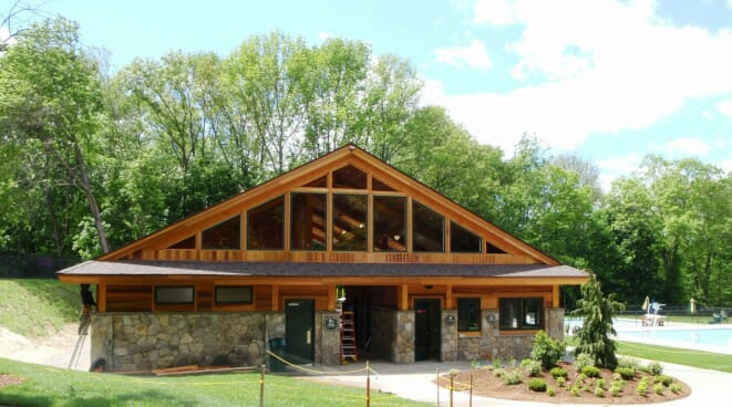 Timber Bath House at Katonah Park