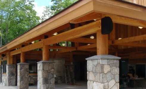 Stone and Timber Columns