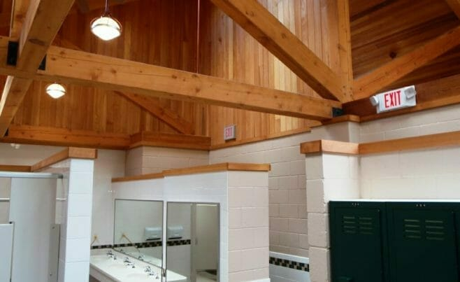 Park Wood Beam Interior