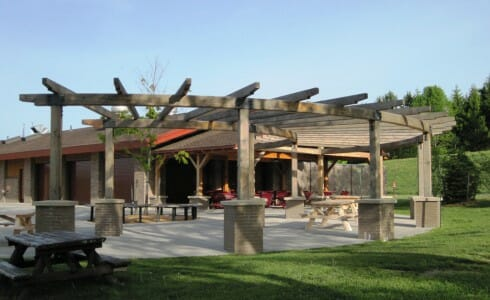 Post and Beam Pergola at Lake Taghkanic