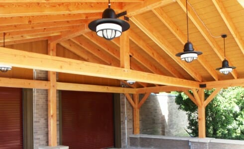 Timber Beam Outdoor Eating Area