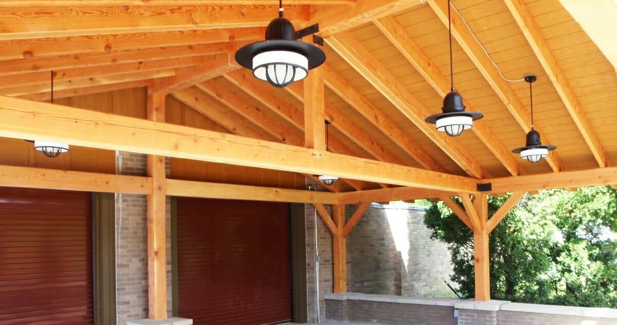 Timber Framed Pergola For Ny State Park